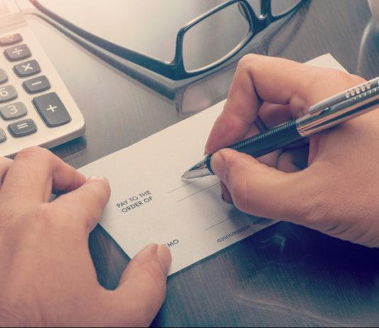 cheque sur papier libre
