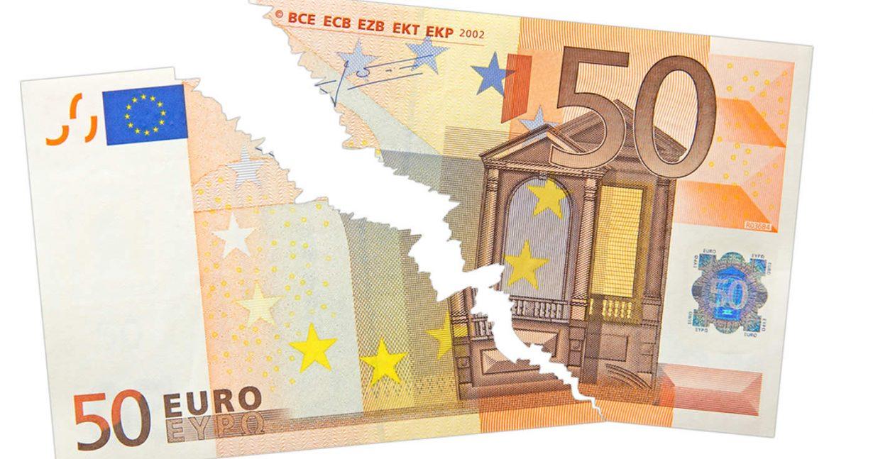 billet de 50€ déchiré